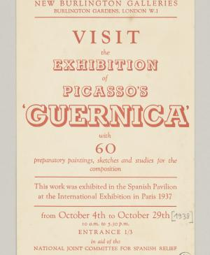 Picasso's Guernica, New Burlington Galleries