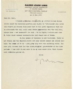 Juan Larrea's letter to Alfred H. Barr Jr., dated 10 July 1947