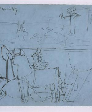 Composition Study [II]. Sketch for Guernica