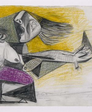 Mother with Dead Child [II]. Sketch for  Guernica