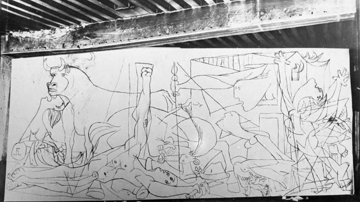 Reportaje de Dora Maar sobre la evolución de Guernica