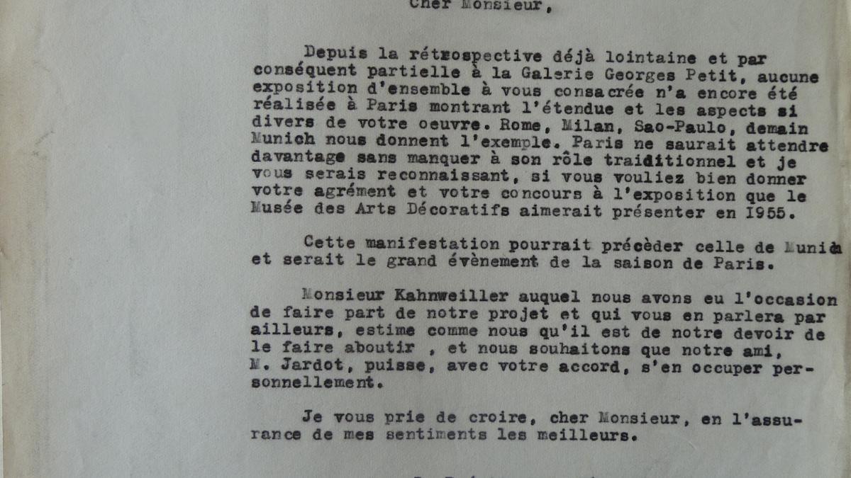 Carta de François Carnot a Pablo Picasso