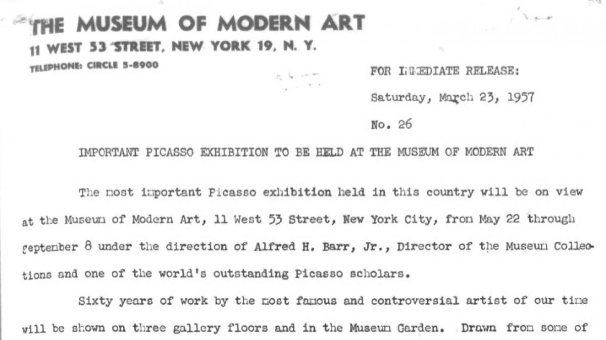 An important exhibition to be held at the Museum of Modern Art
