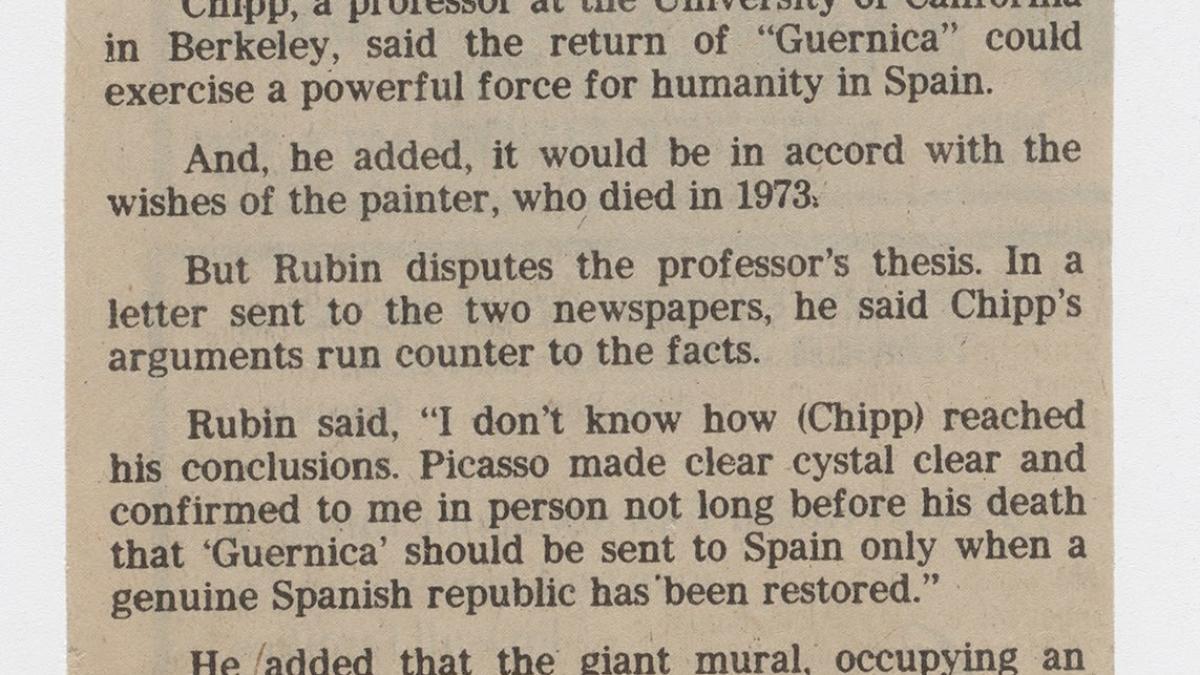 ¿Debería volver Guernica a España ?