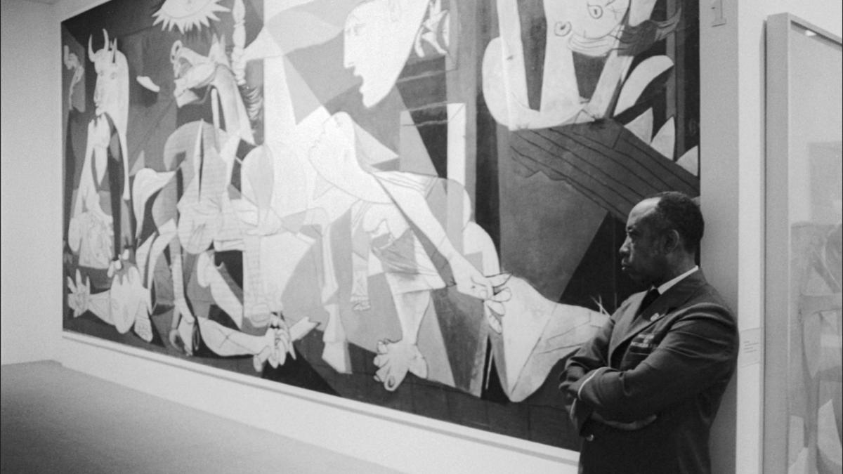 A MoMA Guard Stands Watch Over Guernica